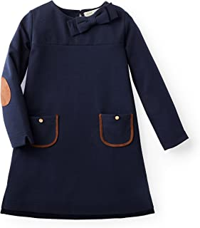 Girls' Long Sleeve Quilted Ponte Riding Dress