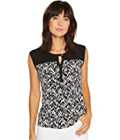 Calvin Klein - Print Top with Keyhole