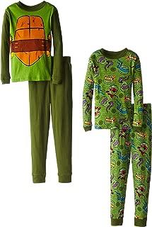 Teenage Mutant Ninja Turtles Little Boys' Michaelangelo Costume 4 Piece Pajama Set