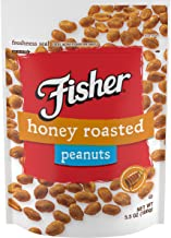 FISHER Snack, Honey Roasted Peanuts, 0g trans fat, 5.5 oz (Pack of 6)