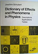 Dictionary of Effects and Phenomena in Physics