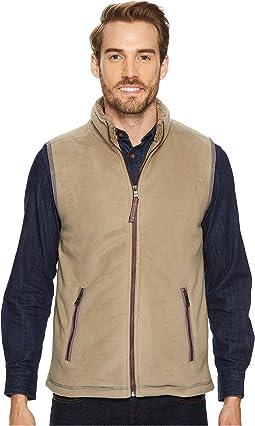 Bonded Polar Fleece and Sherpa Zip Vest