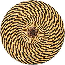 XL Coasters Spiral Illusion (6 Inch, Set of 2) – Oversized cork absorbent drink coasters