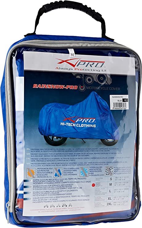 A Pro Waterproof Rain Cover Protection Motorcycle Motorbike Scooter Bike Blue M Auto