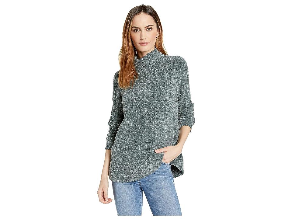 Lilla P Swing Sweater Turtleneck (Lead/Pearl) Women