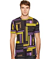 Versace Collection - Linear Print T-Shirt