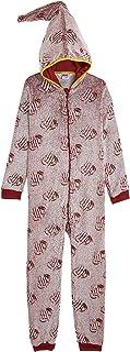 HARRY POTTER Pijamas Mujer Invierno de Una Pieza Brilla en La Oscuridad, Pijamas Enteros de Forro Polar con Capucha de Mag...