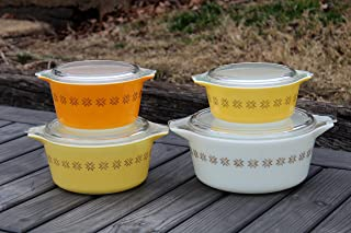 Pyrex Town and Country Set of 4 Round Casserole Dishes 472-473-474-475