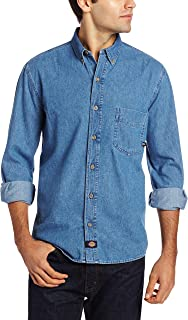 Men's Long-Sleeve Denim Work Shirt