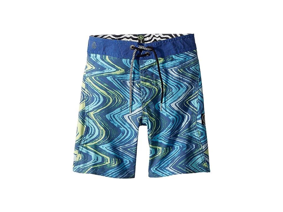 Volcom Kids Lo Fi Boardshorts (Toddler/Little Kids) (Camper Blue) Boy