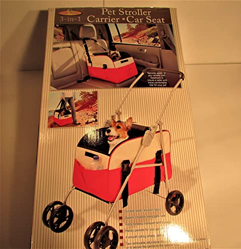 high quality Great Combination 3-in-1 Pet Stroller, Carrier and Car Seat for Convenience and Safety Walking or Traveling with Your new arrival Pet. Also Great for Visits to the new arrival Vet. outlet online sale