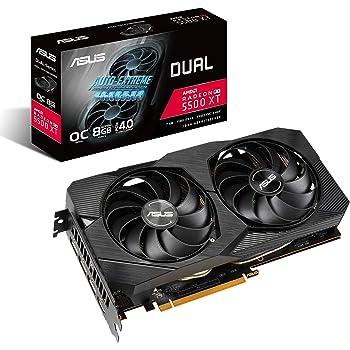 ASUS AMD Radeon RX 5500XT Overclocked O8G GDDR6 Dual Fan EVO Edition HDMI DisplayPort Gaming Graphics Card (DUAL-RX5500XT-O8G-EVO)
