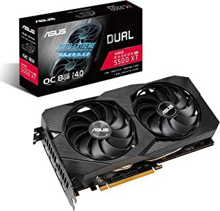 ASUS AMD Radeon RX 5500XT Overclocked O8G GDDR6 Dual Fan EVO Edition HDMI DisplayPort Gaming Graphics Card (DUAL-RX5500XT-...