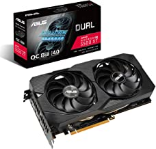 ASUS AMD Radeon RX 5500XT Overclocked O8G GDDR6 Dual Fan EVO Edition HDMI DisplayPort Gaming Graphics Card (DUAL-RX5500XT-...
