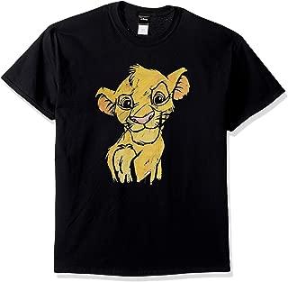 Disney Men's Lion King Simba Sketch Crown Prince Graphic T-Shirt