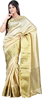MIMOSA Tassar Silk Saree Half White Colour(3124-2060-TUSS-HWHITE)