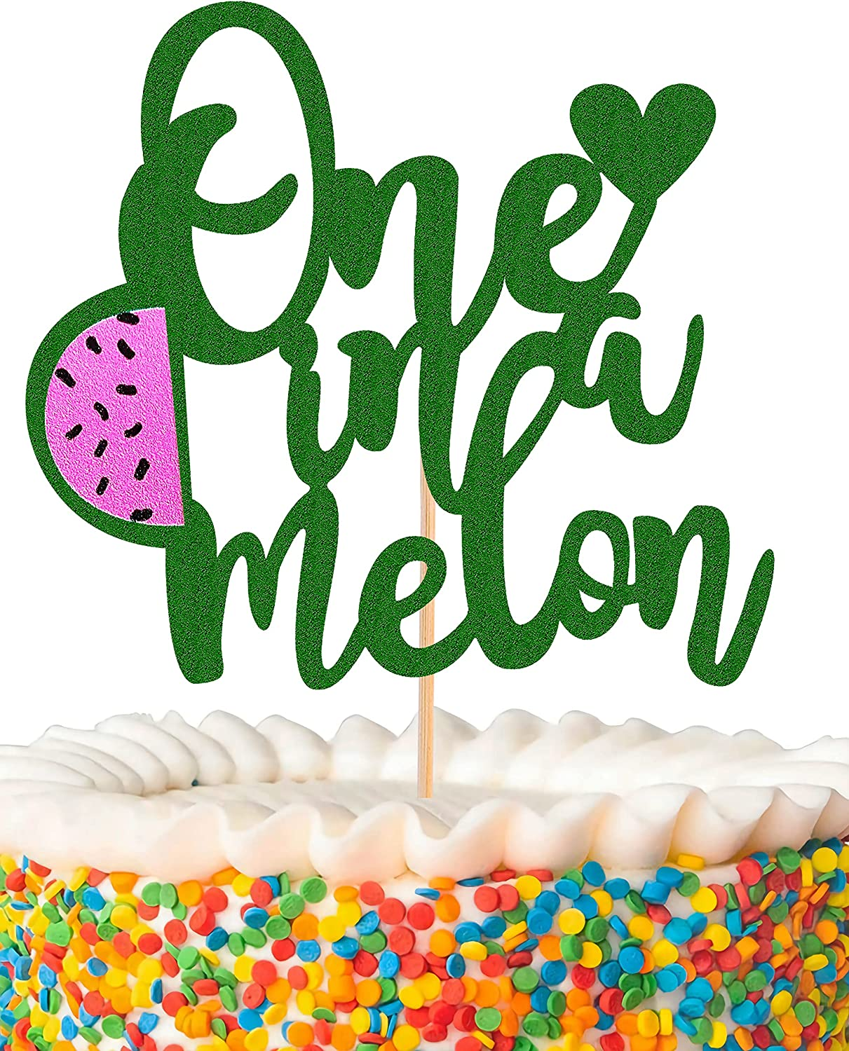 MYAMPED One in a Melon Cake All items free shipping First birthday Topper C Oakland Mall - Watermelon