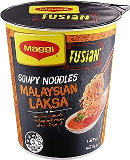 Maggi FUSIAN Malaysian Laksa Soupy Cup Noodles 12 Pack