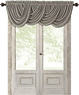 Elrene Home Fashions All Seasons Room Darkening Rod Pocket Waterfall Window Valance, 52