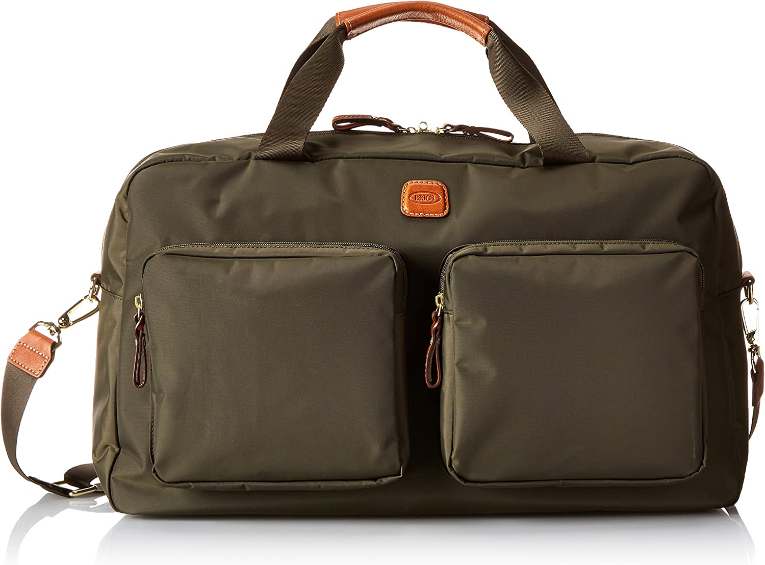 Bric's Luggage Bxl32192 High quality X Bag Olive Trim Cognac Boarding Duffel Super beauty product restock quality top