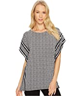 MICHAEL Michael Kors - Houndstooth Border Top