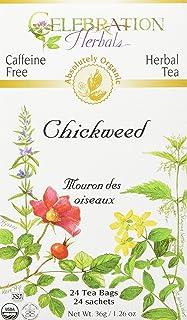 CELEBRATION HERBALS Chickweed Herb Tea Organic 24 Bag, 0.02 Pound