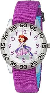 DISNEY Girls Princess Sofia Analog-Quartz Watch with Nylon Strap, Purple, 16 (Model: WDS000265)