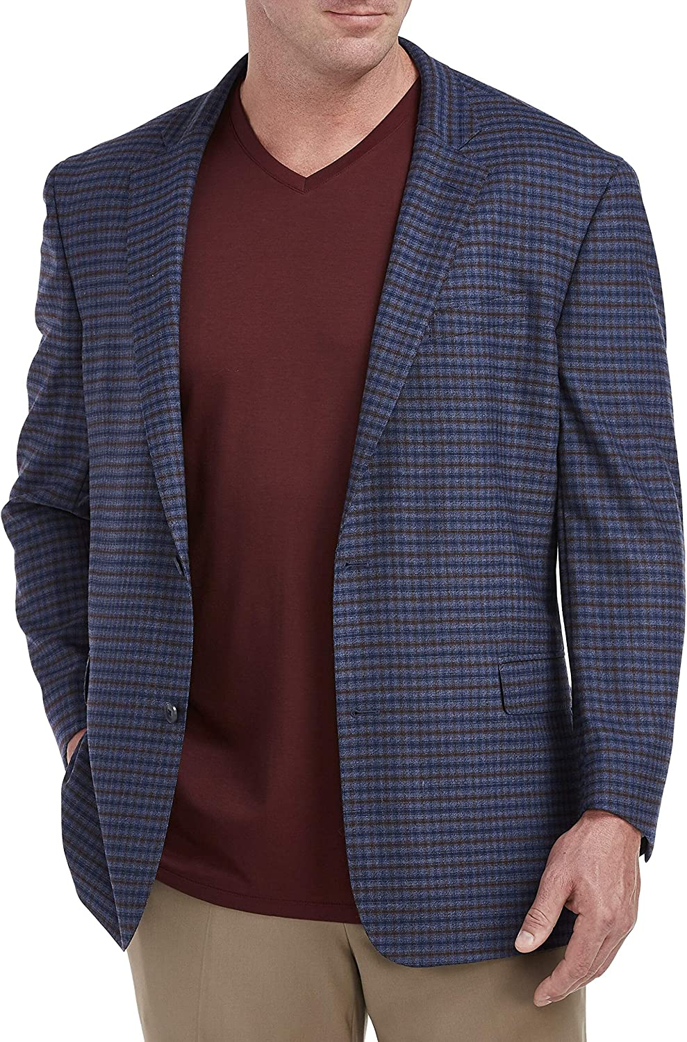 Cole Haan Small Check Sport Coat, Blue