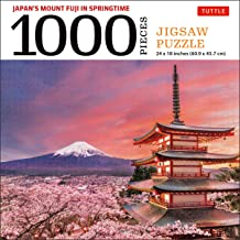 Japan's Mount Fuji in Springtime- 1000 Piece Jigsaw Puzzle: Snowcapped Mount Fuji and Chureito Pagoda in Springtime (Finis...