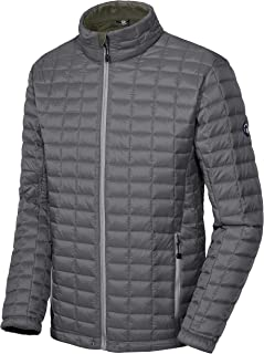 Men's Insulated Jacket, Quilted Puffer Jacket with Eco-Friendly Synthetic Insulation