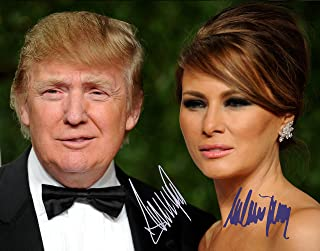 Donald Trump and Melania Trump Autographed Preprint