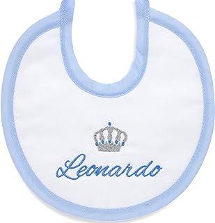 Bavetta nascita con frase ricamata da personalizzare- bavetta per neonati con ricamo corona e nome da ricamare
