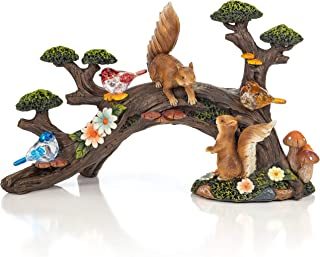 VP Home Birds and Squirrels Bonsai Tree Solar Powered LED Outdoor Decor Garden Light