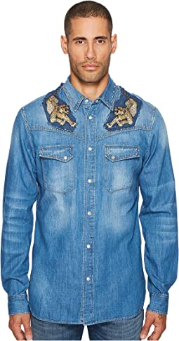 Just Cavalli - Denim Western Button Down