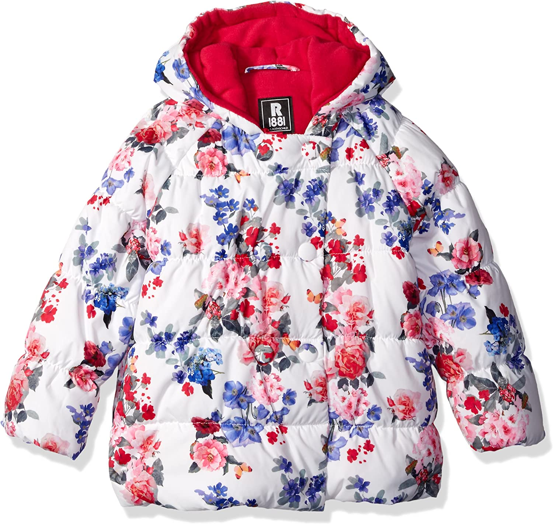 Rothschild Girls' Multi Rose Double Bubble Jacket