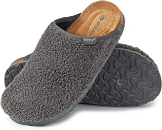 Dunlop House Slippers for Women, Memory Foam Slip On Shoes for Womens, Fluffy Sheepskin Mule for Ladies, Size 3-8, Comfy R...