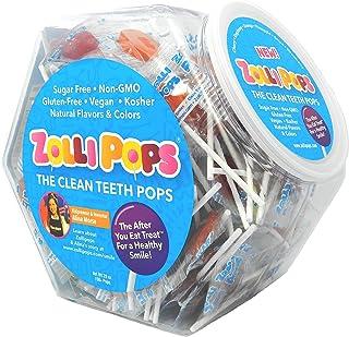 Zollipops The Clean Teeth Pops, Anti Cavity Lollipops, Delicious Assorted Flavors, 150 Count Hexagon Jar