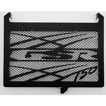 cache radiateur//grille de radiateur 750 GSX-S design Tsunami noir carbone satin/é grillage anti gravillon blanc