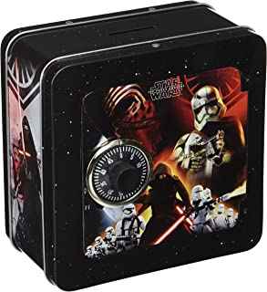 Disney Star Wars Force Awakens Penny Bank with Lock,,