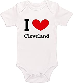 Kinacle I Love Cleveland Baby Bodysuit