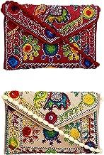 Lonika Clutch Purse For Women Elephant Handmade Ethnic Vintage Handbags Crossbody Bag