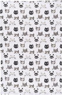 Now Designs Cotton Kitchen Towel, Cats Meow Print