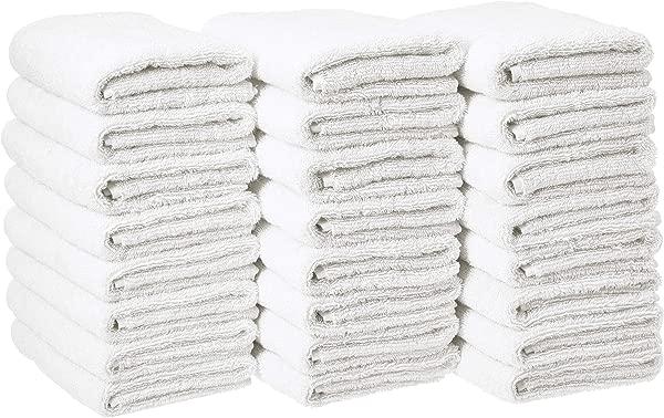 AmazonBasics Cotton Hand Towels Pack Of 24 White