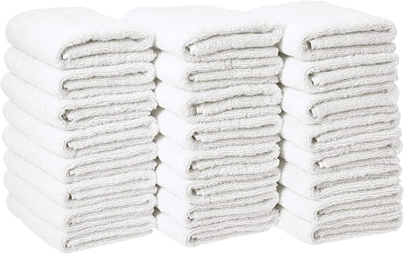 AmazonBasics Cotton Hand Towels Pack Of 24 White