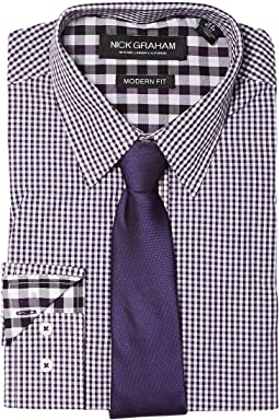 Nick Graham Mini Gingham Check