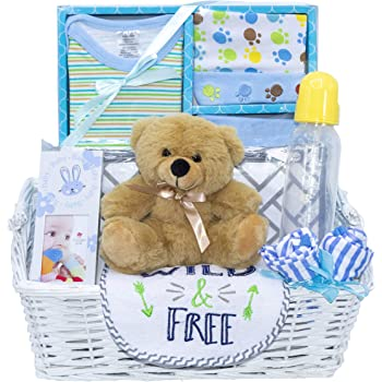 New Arrival Baby Boy Gift Basket (Blue)