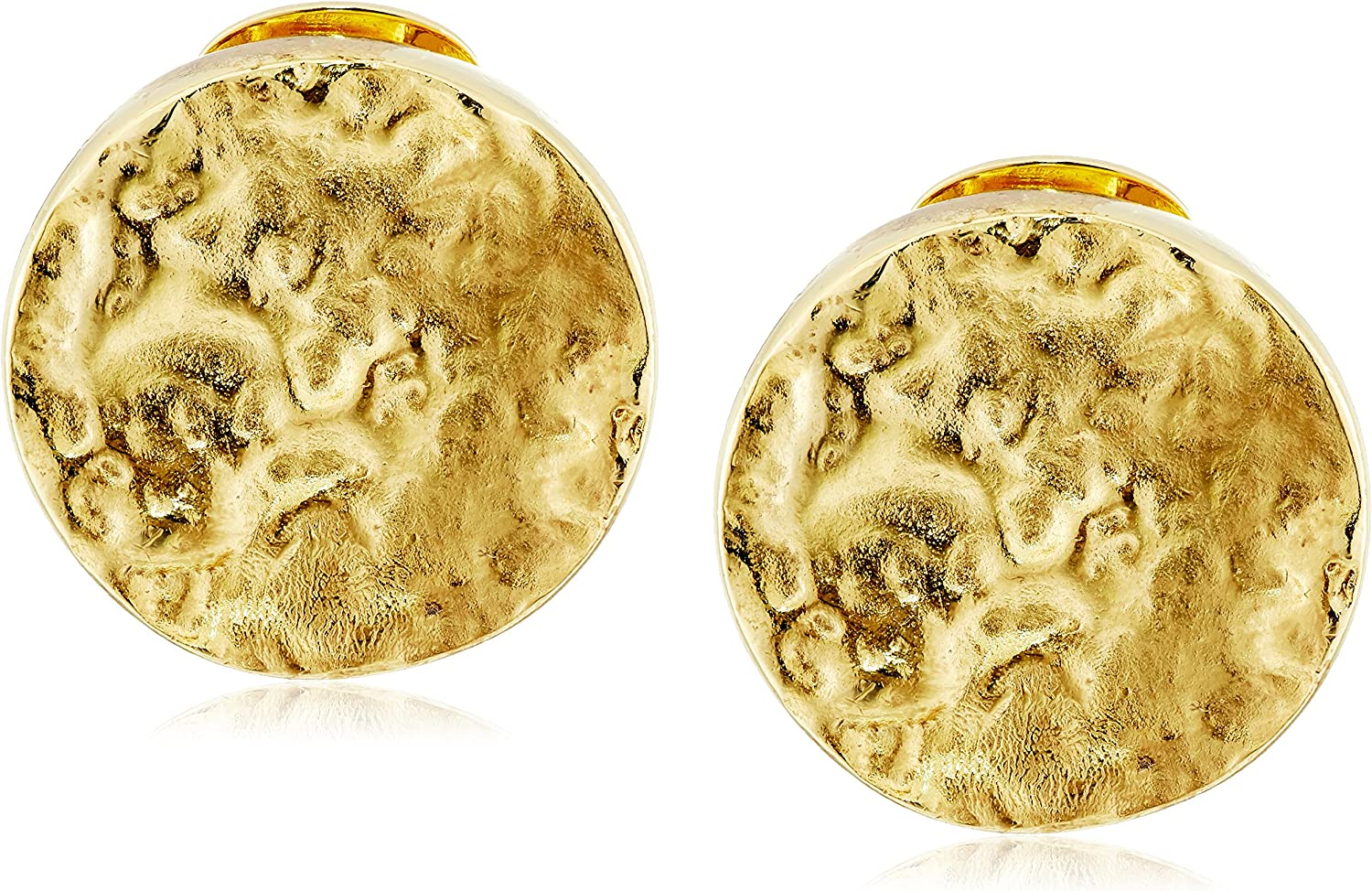 Ben-Amun Jewelry Foiled 24k Gold Electro-Plated Clip-On Earrings
