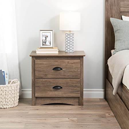Prepac Salt Spring 2-Drawer Night Stand, Drifted Gray
