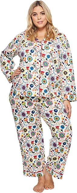 BedHead Plus Size Long Sleeve Classic Two-Piece Pajama Set