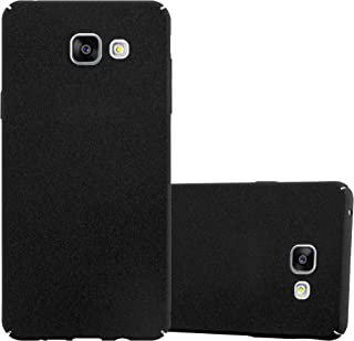 Cadorabo Case Works with Samsung Galaxy A3 2016 in Frosty Black – Shockproof and Scratch Resistent Plastic Hard Cover – Ultra Slim Protective Shell Bumper Back Skin